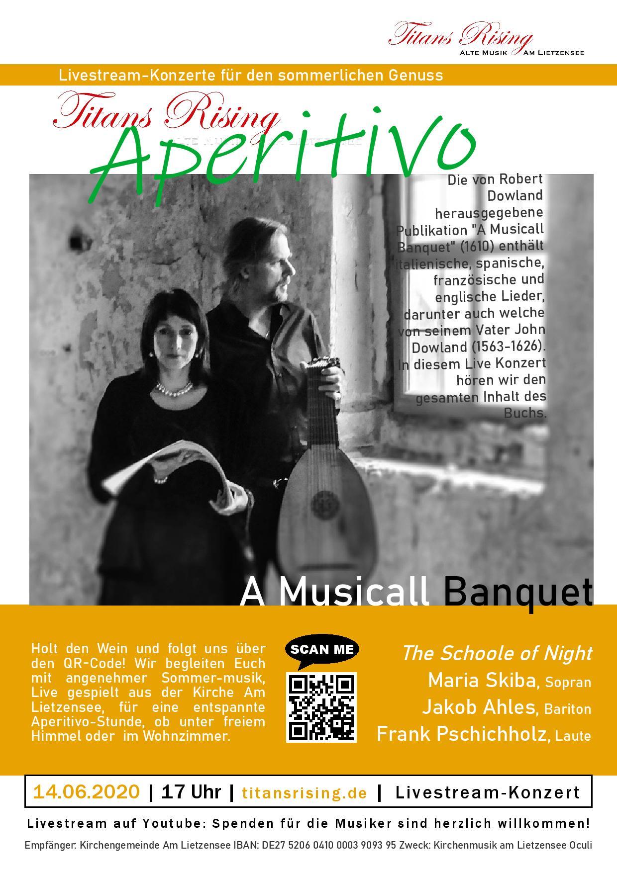 "Aperitivo LIVESTREAM: ""A Musicall Banquet"""